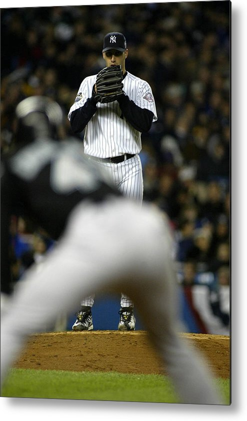 b0a2a03dfe3 Game Two Metal Print featuring the photograph 19 Oct 2003  Andy Pettitte Of  The New