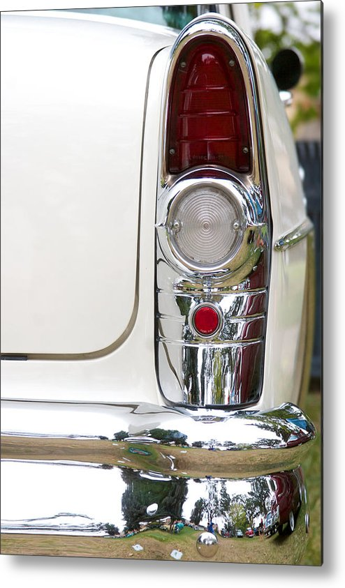 1955 Buick Special Photographs Metal Print featuring the photograph 1955 Buick Special Tail Light by Brooke Roby