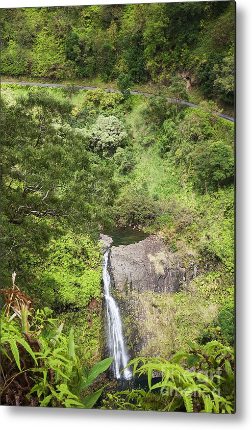 Cascade Metal Print featuring the photograph Hana Waterfall by Jenna Szerlag