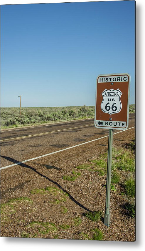 Antique Metal Print featuring the photograph Historic Old Route 66 Passed by Jerry Ginsberg