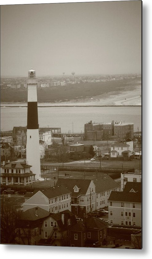 Absecon Metal Print featuring the photograph Lighthouse - Atlantic City by Frank Romeo