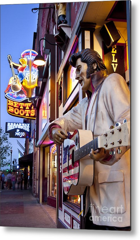 Nashville Metal Print featuring the photograph Music City Usa by Brian Jannsen