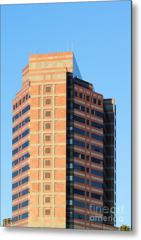 Downtown Metal Print featuring the photograph Office Building by Henrik Lehnerer