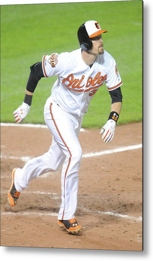 Game Two Metal Print featuring the photograph Pittsburgh Pirates V Baltimore Orioles 2 by Mitchell Layton