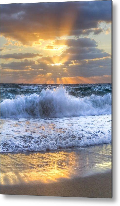 Boats Metal Print featuring the photograph Splash Sunrise by Debra and Dave Vanderlaan