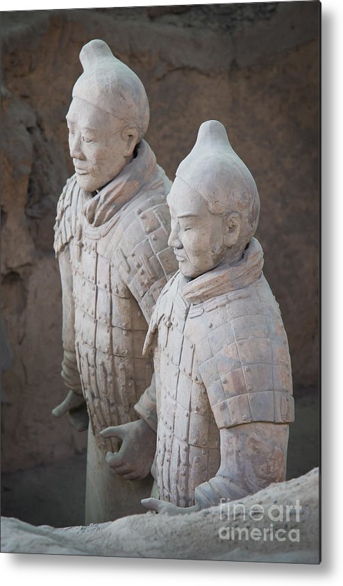 Archeology Metal Print featuring the photograph Terracotta Warriors, China by John Shaw