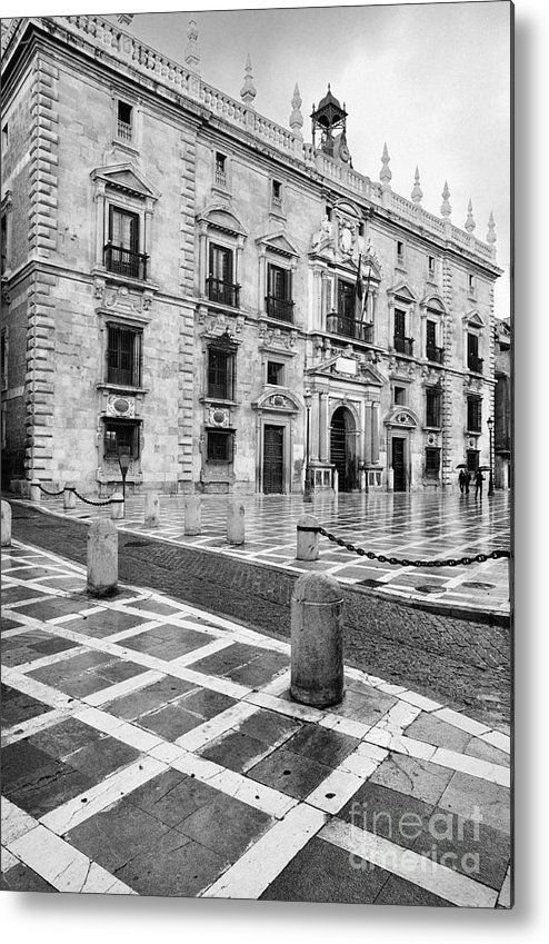 Monochrome Metal Print featuring the photograph The Royal Chancery Of Granada by Guido Montanes Castillo