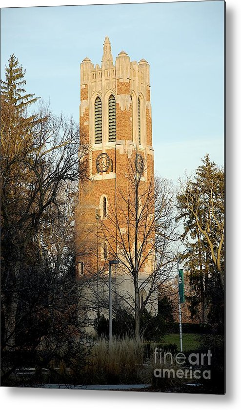 Beaumont Tower Metal Print featuring the photograph Time by Joseph Yarbrough