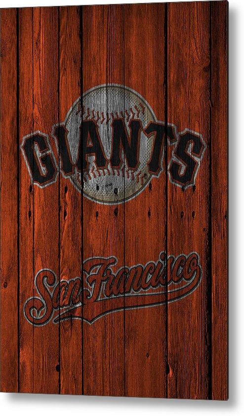 Giants Metal Print featuring the photograph San Francisco Giants by Joe Hamilton