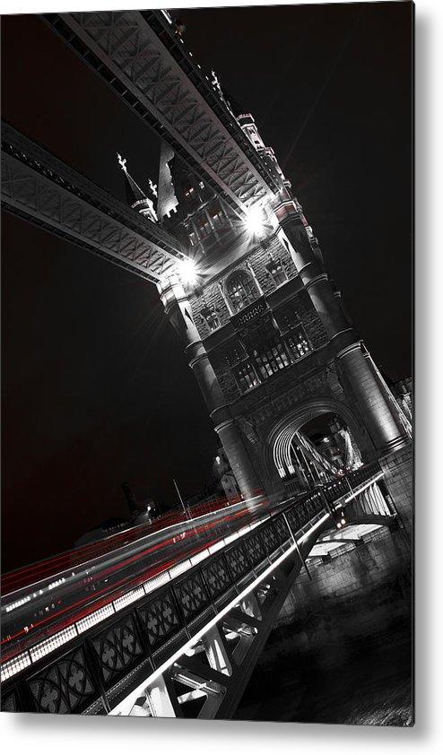 Tower Bridge Metal Print featuring the photograph Tower Bridge London by David Pyatt