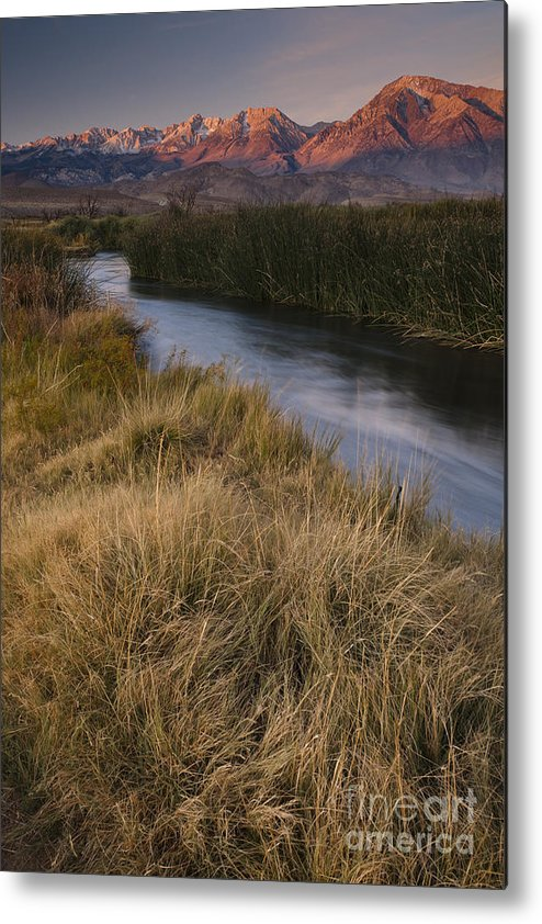 Mountain Metal Print featuring the photograph Eastern Sierras And Owens River by John Shaw