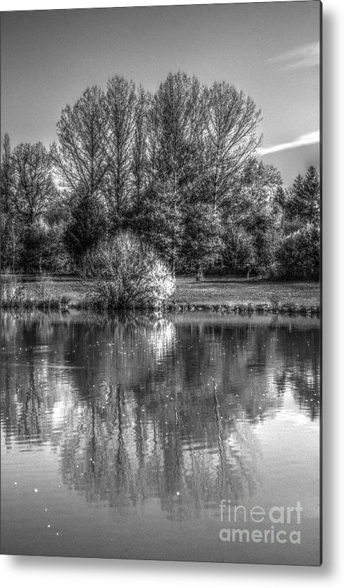 St James Lake Metal Print featuring the photograph Lake Reflections by Jeremy Hayden
