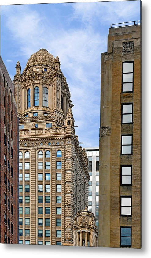 Jewelers Metal Print featuring the photograph 35 East Wacker - Jewelers' Building Chicago by Christine Till