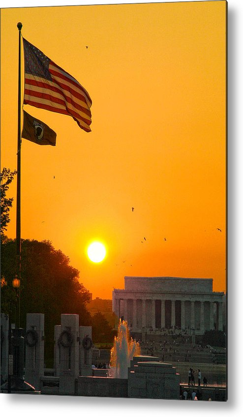 Landscape Metal Print featuring the photograph Freedom by Mitch Cat
