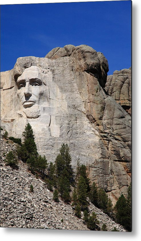 Abe Metal Print featuring the photograph Mount Rushmore by Frank Romeo