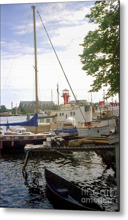 Sweden Metal Print featuring the photograph Stockholm City Harbor by Ted Pollard