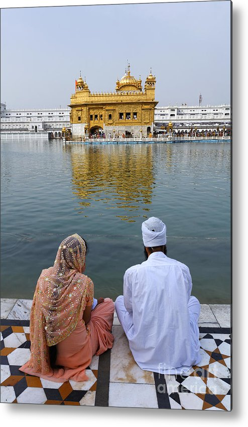 Amritsar Metal Print featuring the photograph The Golden Temple At Amritsar India by Robert Preston