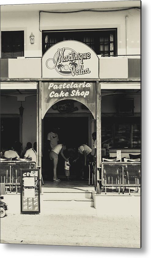 Street Metal Print featuring the photograph Albufeira Street Series - Martinique Velha by Marco Oliveira