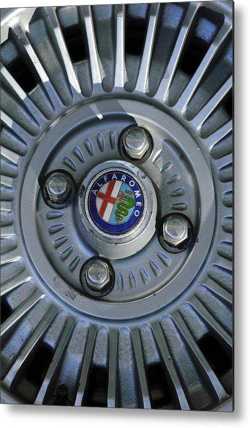Alfa Romeo Metal Print featuring the photograph Alfa Romeo Wheel Rim by Jill Reger