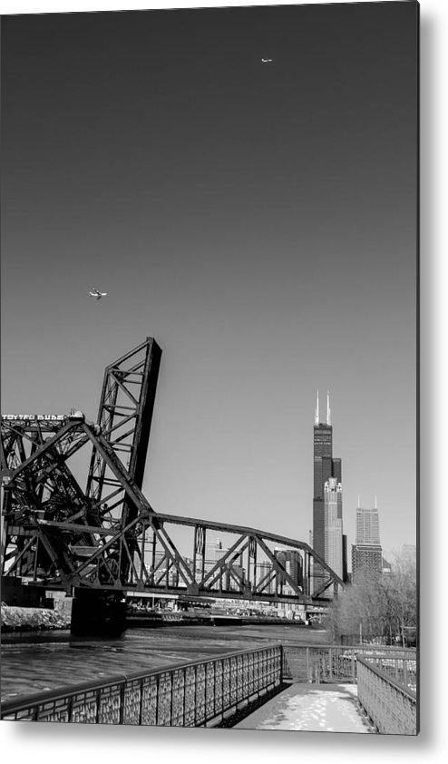Chicago Metal Print featuring the photograph Almighty Chicago by Polina Goncharova