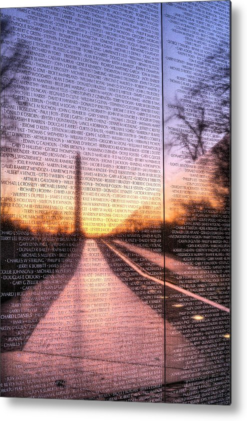 Vietnam Wall Metal Print featuring the photograph Always Remembered by JC Findley