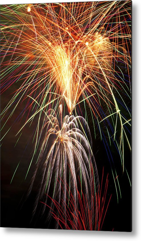 4th Metal Print featuring the photograph Amazing Fireworks by Garry Gay