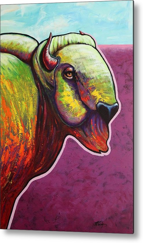 Wildlife Metal Print featuring the painting American Monarch by Joe Triano