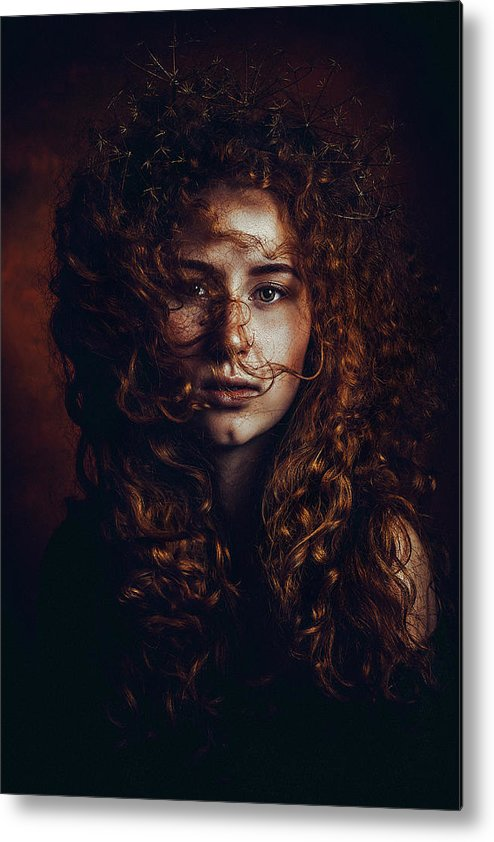 Red Hair Metal Print featuring the photograph And God Said, Let There Be Redheads by Ruslan Bolgov (axe)