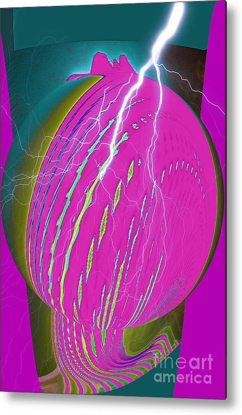 Earth Metal Print featuring the digital art And He Called It Earth by Luther Fine Art