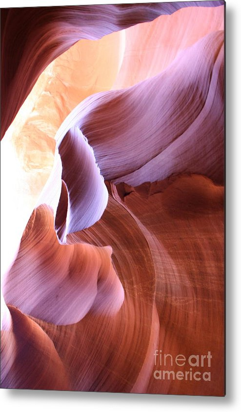 Antelope Canyon Metal Print featuring the photograph Antelope Canyon Colorful Waves by Christiane Schulze Art And Photography