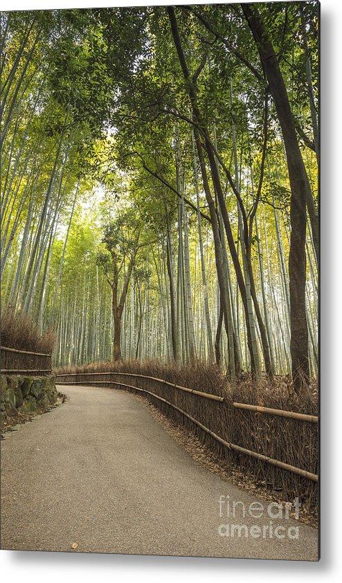 Arashiyama Metal Print featuring the photograph Arashiyama Kyoto Japan by Colin and Linda McKie