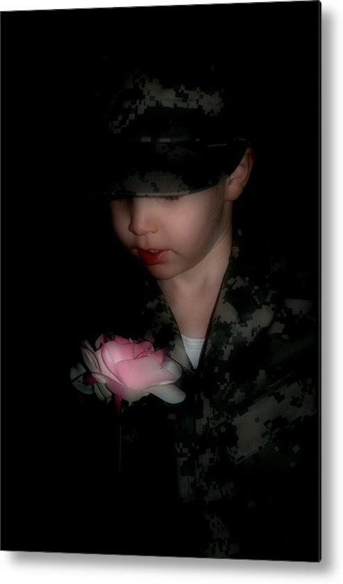 Army Metal Print featuring the photograph Army Boy by Dawn Call