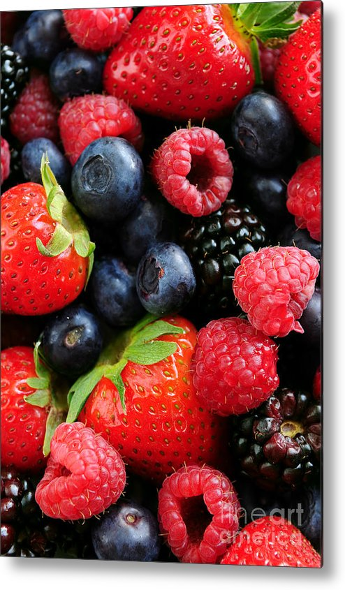 Berry Metal Print featuring the photograph Assorted Fresh Berries by Elena Elisseeva