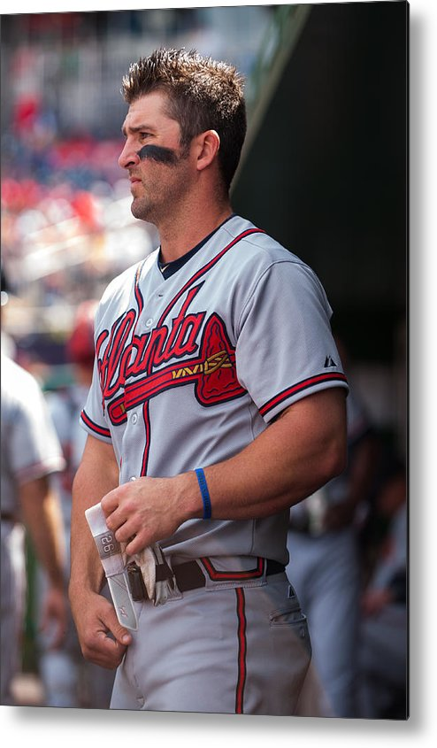 Professional Sport Metal Print featuring the photograph Atlanta Braves V Washington Nationals by Rob Tringali