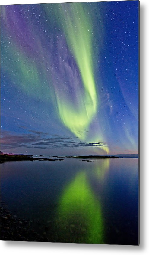 Frank Olsen Metal Print featuring the photograph Aurora In Green And Violet by Frank Olsen