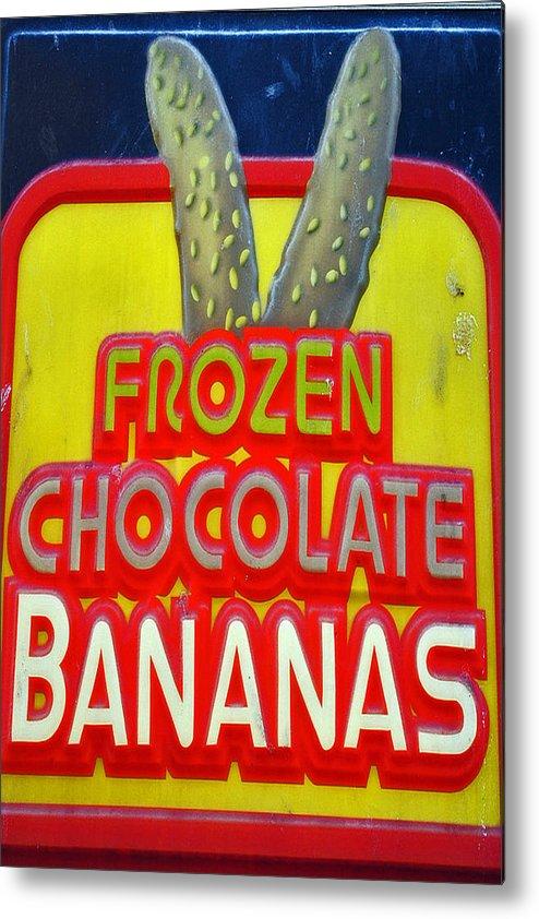 Fair Metal Print featuring the photograph Bananas by Skip Willits