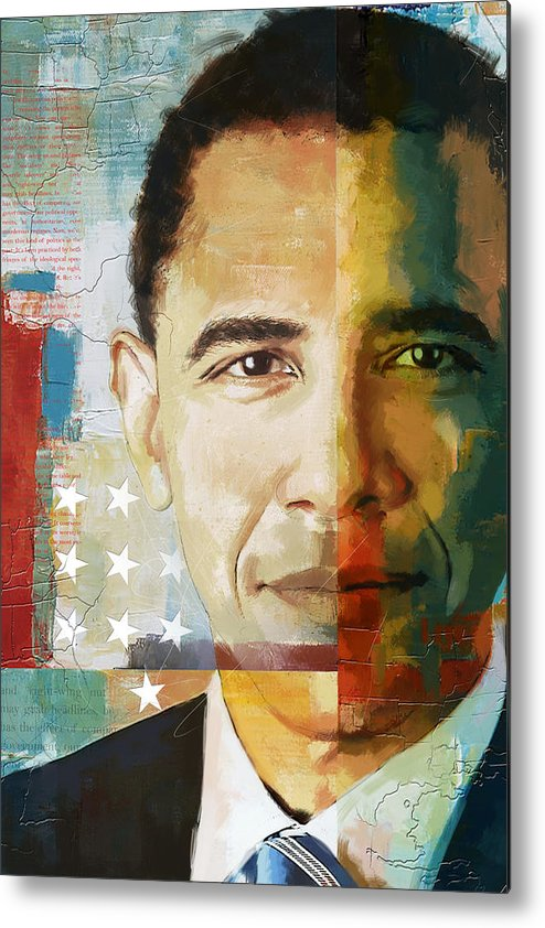 Barack Obama Metal Print featuring the painting Barack Obama by Corporate Art Task Force