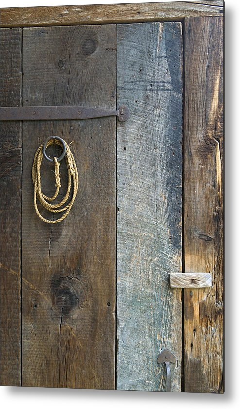 Wood Metal Print featuring the photograph Barn Door by Peter J Sucy
