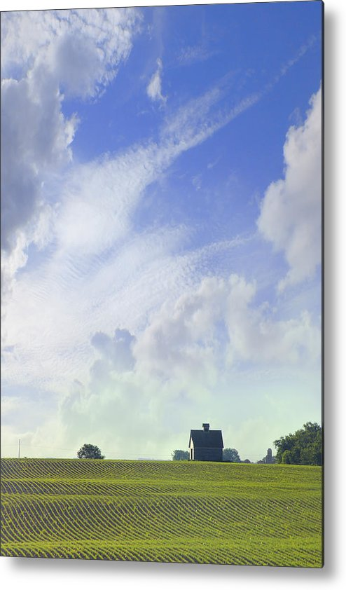 Farm & Barn Metal Print featuring the photograph Barn On Top Of The Hill by Mike McGlothlen