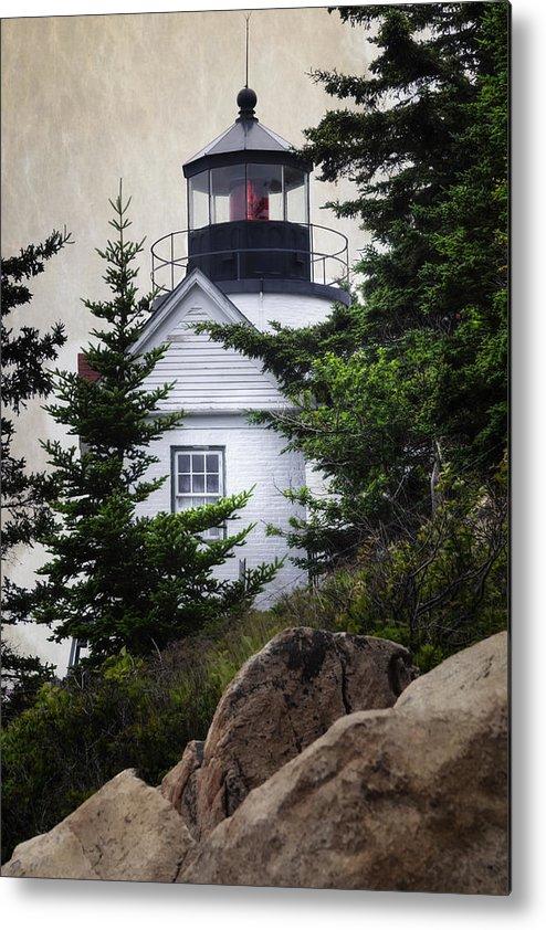 Joan Carroll Metal Print featuring the photograph Bass Harbor Head Light by Joan Carroll