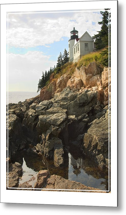 Bass Harbor Metal Print featuring the photograph Bass Harbor Head Lighthouse by Mike McGlothlen
