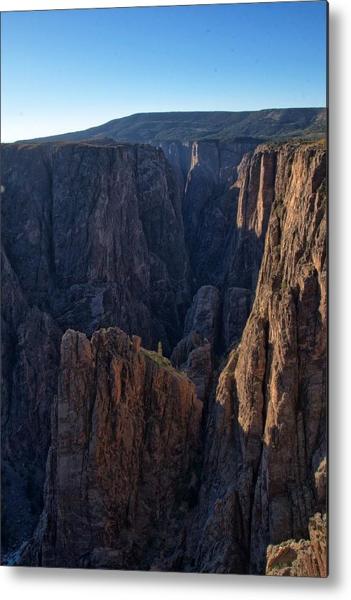 Eric Rundle Metal Print featuring the photograph Black Canyon Into The Deep Hdr by Eric Rundle
