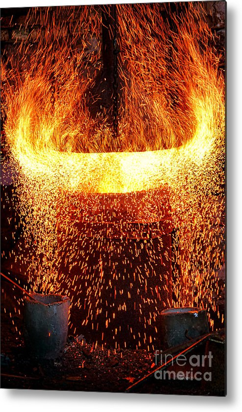 Fire Metal Print featuring the photograph Blast by Olivier Le Queinec