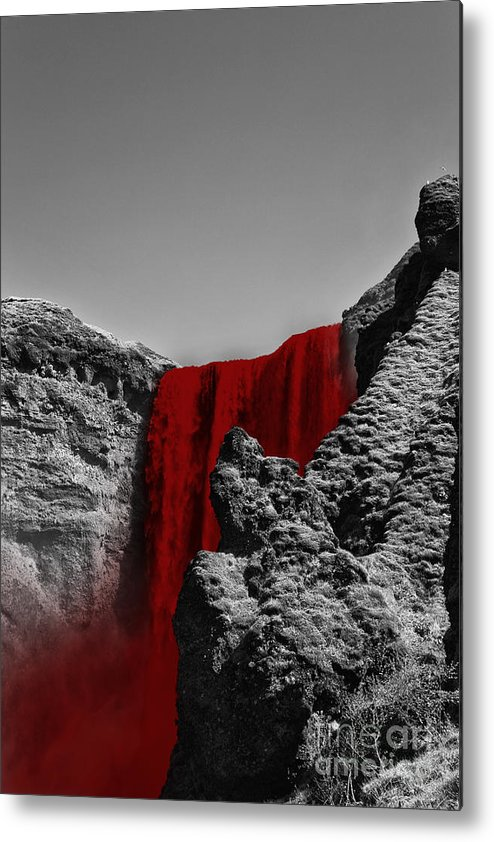 River Metal Print featuring the photograph Bloodriver by Fabian Roessler