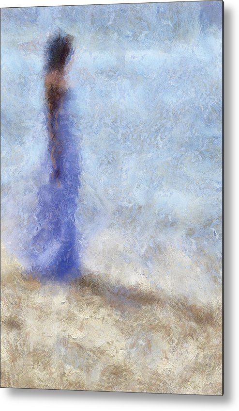 Impressionism Metal Print featuring the photograph Blue Dream. Impressionism by Jenny Rainbow