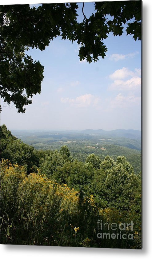 Mountains Metal Print featuring the photograph Blue Ridge Parkway Scenic View by Christiane Schulze Art And Photography