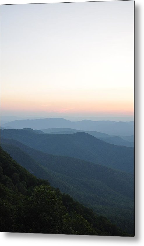 Nature Metal Print featuring the photograph Blue Ridge Parkway Sunset 4 by Sherri Quick