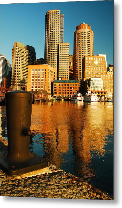 Boston Metal Print featuring the photograph Boston Harbor by James Kirkikis