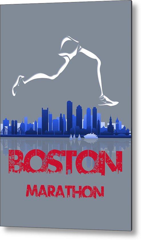 Runner Metal Print featuring the photograph Boston Marathon3 by Joe Hamilton