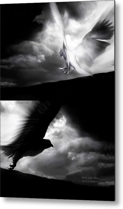 Eagle Metal Print featuring the mixed media Both Sides Now by Carol Cavalaris
